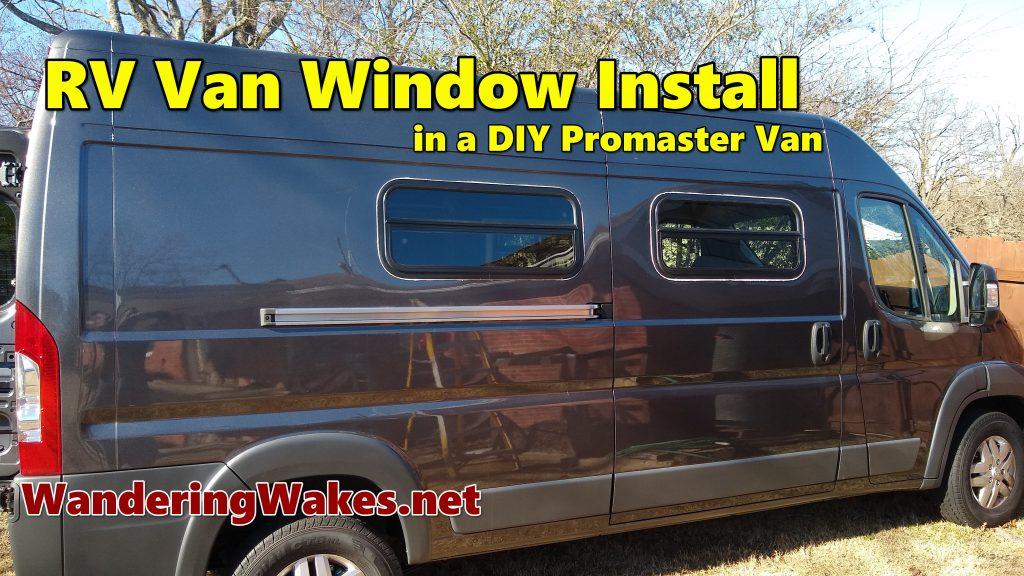 DIY RV Window Install youtube video screen