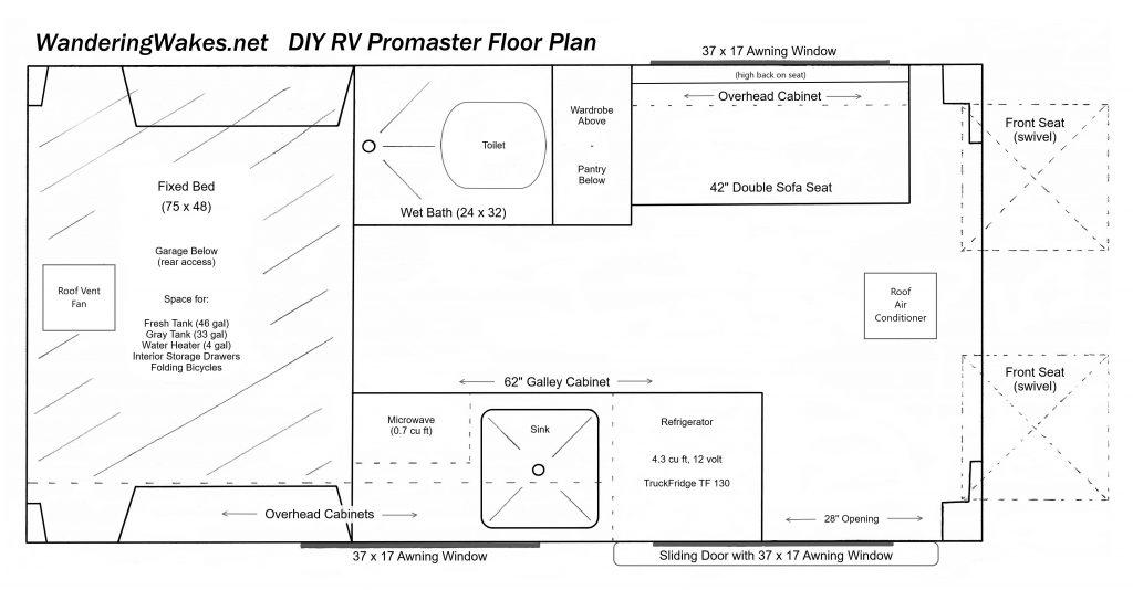 DIY RV Floor Plan Promaster