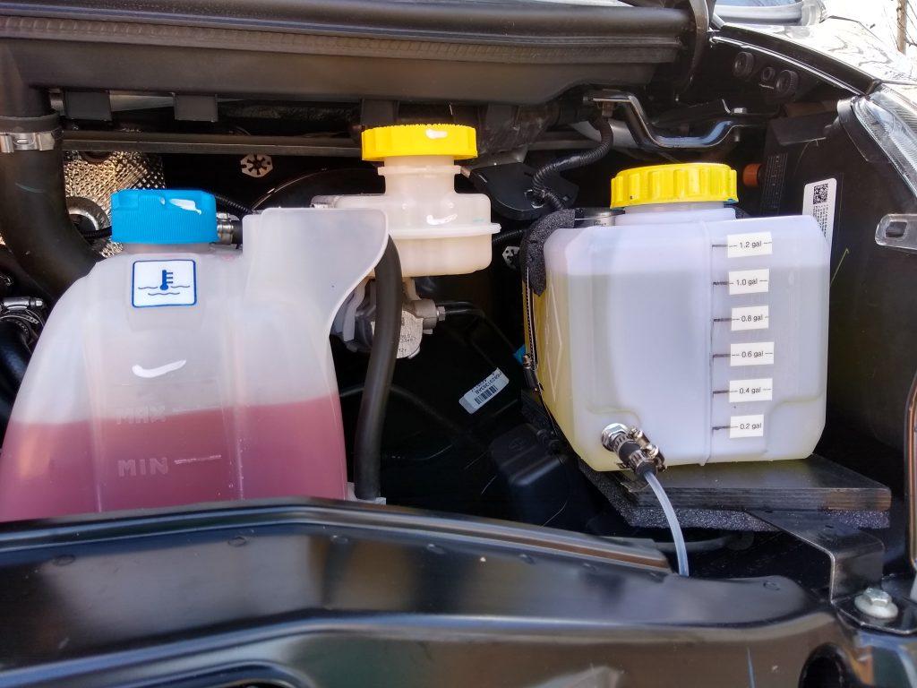 Diesel parking heater replacement fuel tank.