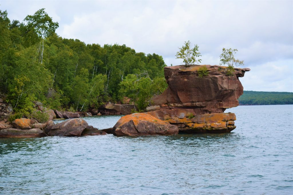 A standing rock, Apostle Islands, Wisconsin