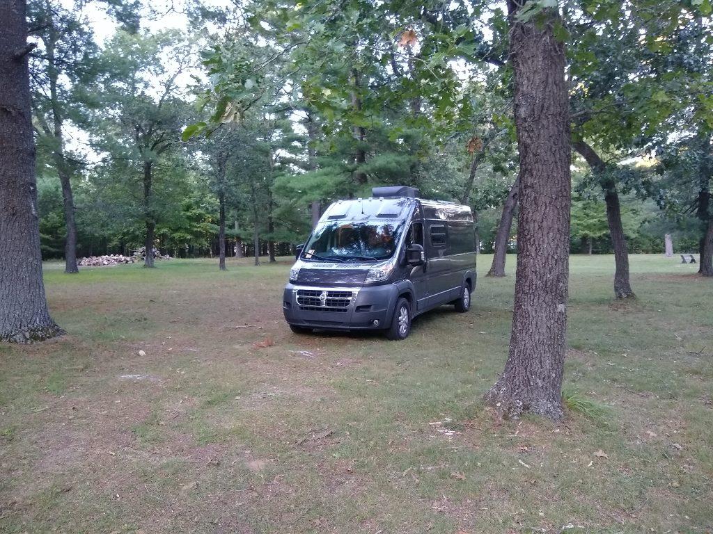 WanderVan at McMullen Memorial County Park near Warrens, Wisconsin