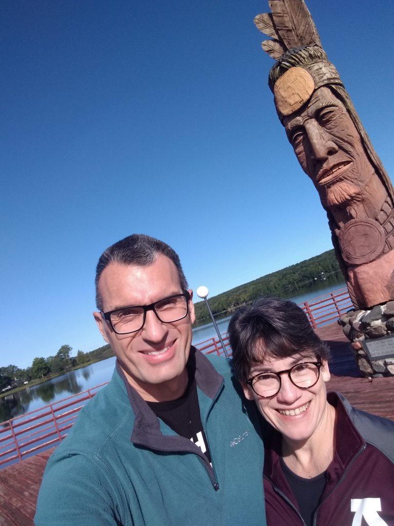 Nee Gaw Nee Gaw Bow carving, Wakefield, Michigan