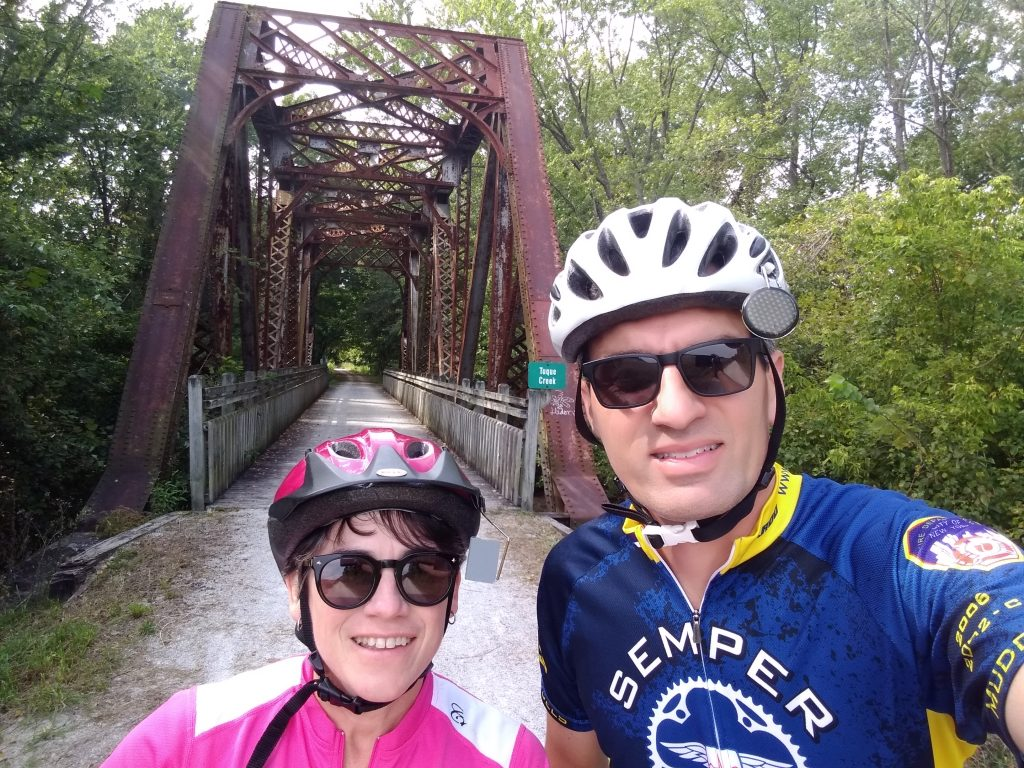 Afternoon ride on the Katy Trail, Missouri