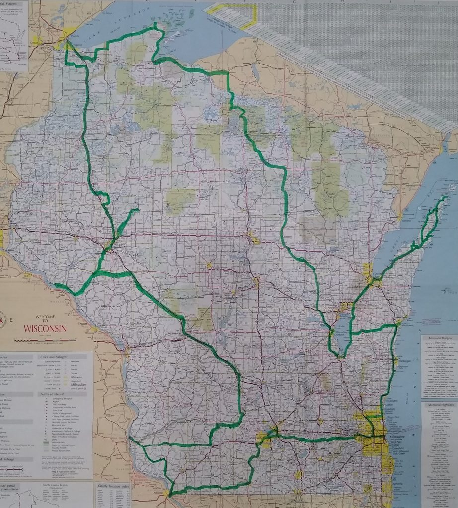 Wisconsin driving route