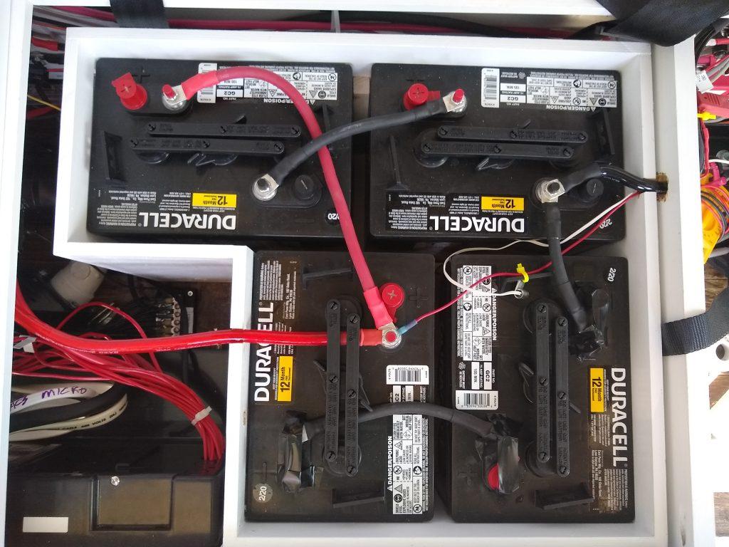 4 x 6 volt golf batteries for our camper van project