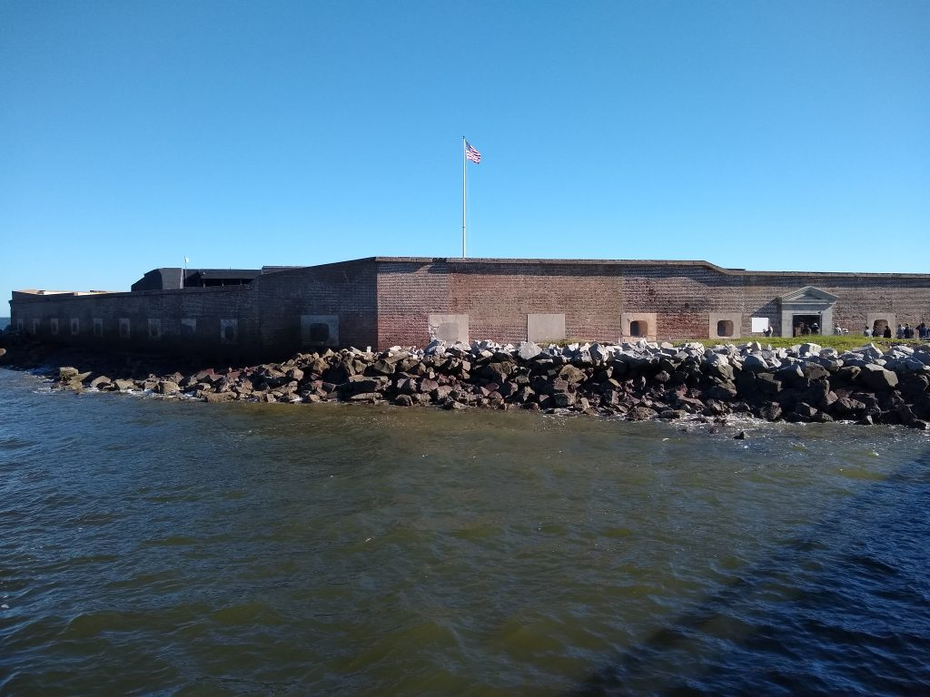 Fort Sumter in Charleston Bay, starting point of the Civil War