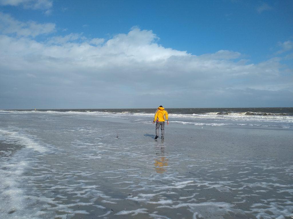 Beach combing on Hunting Island