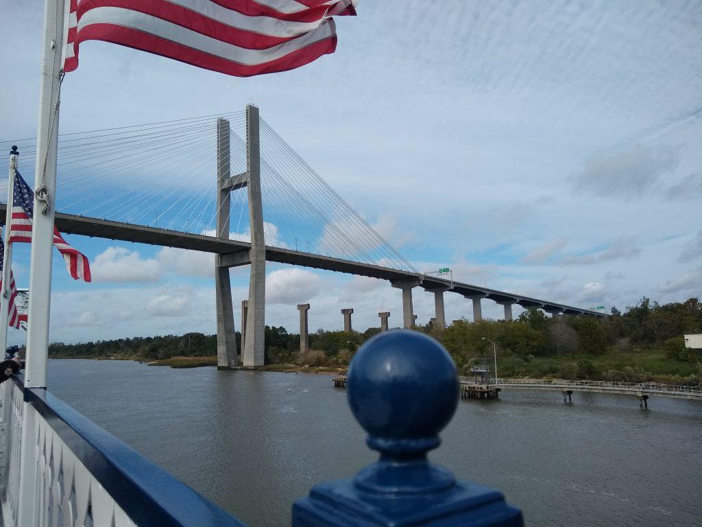 Bridge over the Savannah River in Savannah, Georgia
