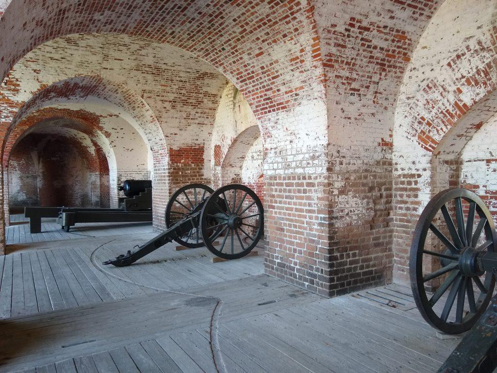Fort Pulaski near Savannah, Georgia