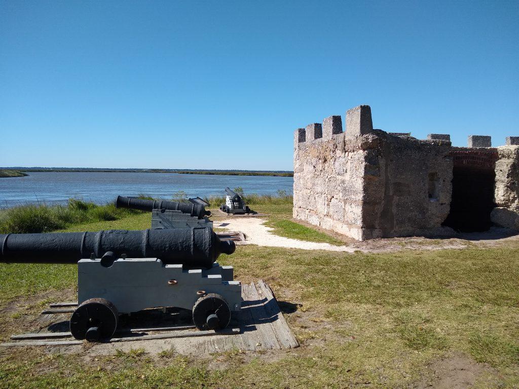 Fort Frederica along the Georgia coast