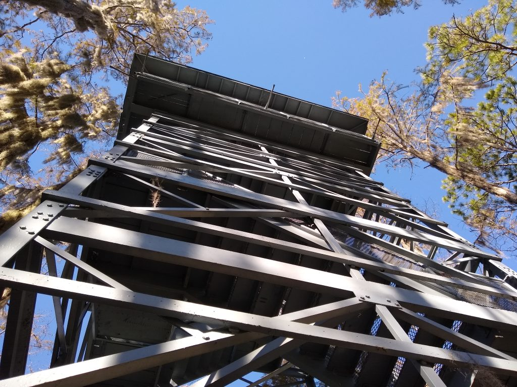 Observation tower over Okefenokee Swamp