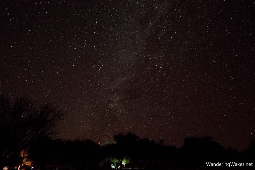 The Milky Way over Cottonwood Campground in Big Bend National Park