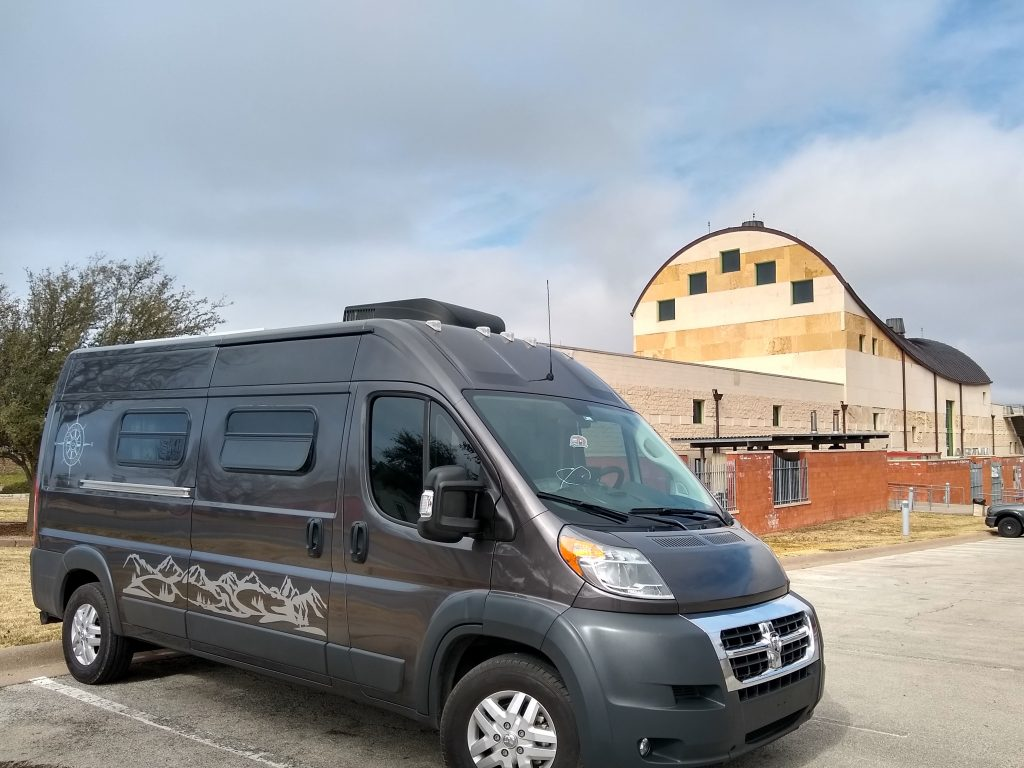 The WanderVan at the San Angelo, TX Museum of Fine Arts