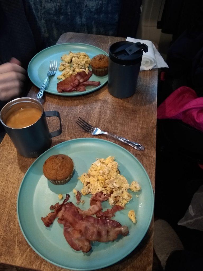 Breakfast in the WanderVan