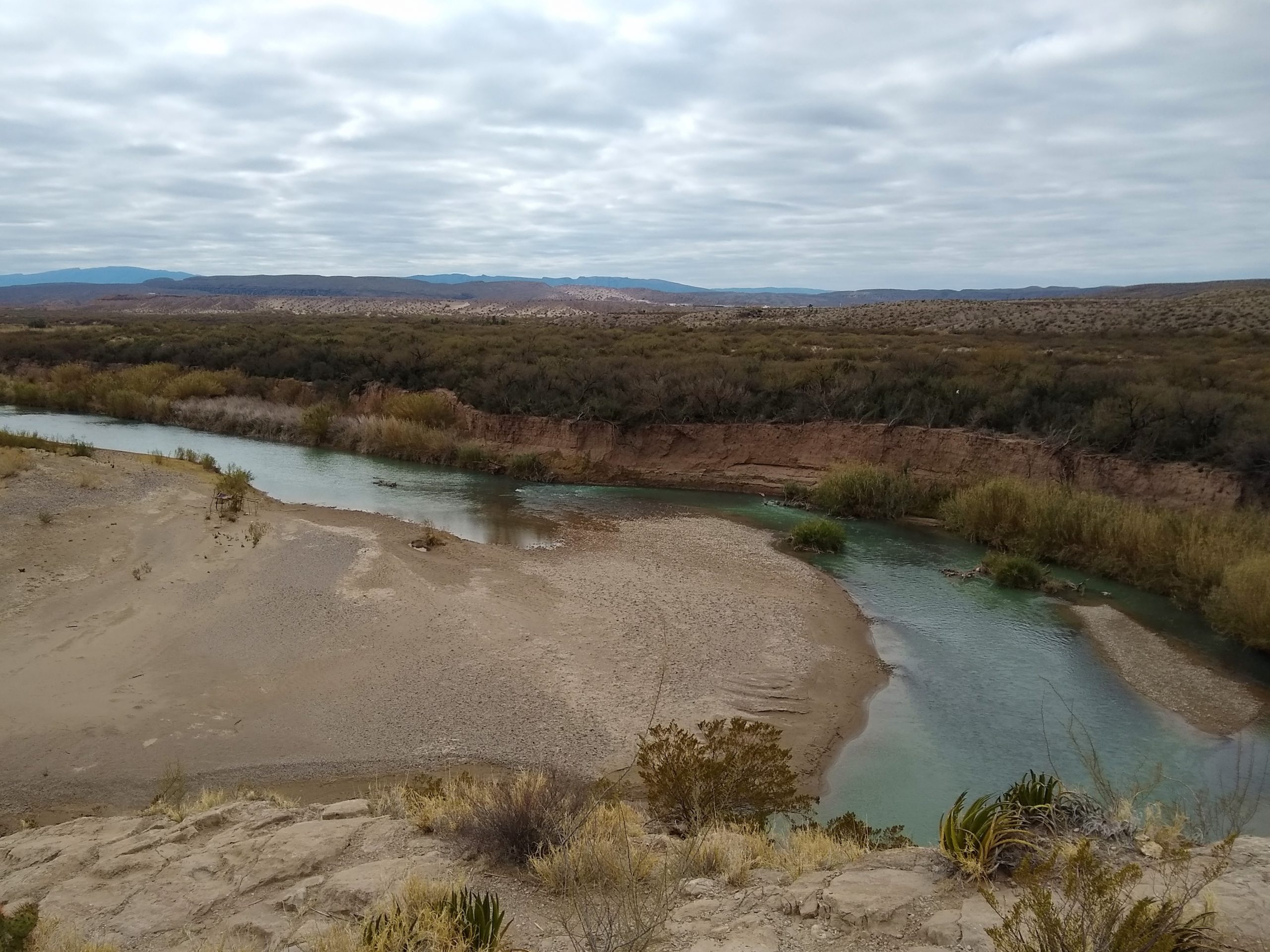 Overlooking the Rio Grande in Big Bend NP