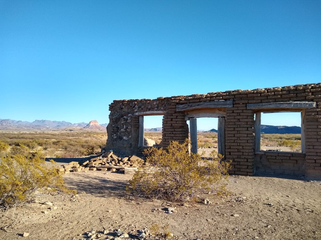 Ranch house ruins in southern Big Bend NP